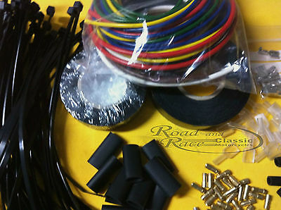 Wire Loom Kit with Connectors For Norton, Triumph, BSA, Arial and AJS