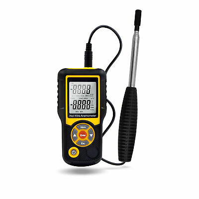 """High Quality Precise Hotwire Thermal Anemometer Probe w/Telescopic Handle 41"""""""