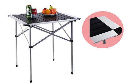 Portable Aluminium Lightweight Roll Up Folding Away Fishing Camping Table Picnic