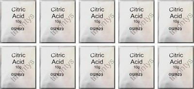 10 x 10 Gram Sachets of Citric Acid Descaler Avent Sterilizers Coffee Machines