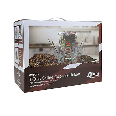 9T-Disc Coffee Pod 52 Capsule Holder Dispenser Stainless Steel For Bosch Tassimo