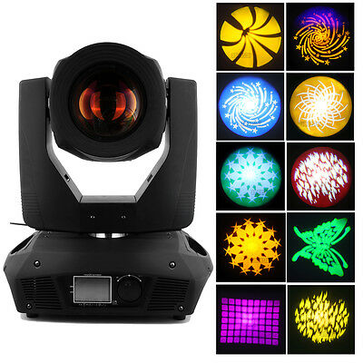 330W 15R Beam Moving Head Light Gobos Zoom 16 Prism DMX Wedding DJ Party Stage