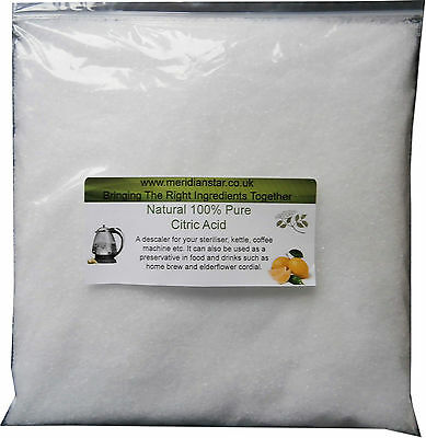 Citric Acid 5kg Descaler For Sterilizers Bath Bombs Kettle Descale