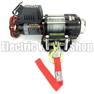 Warrior Ninja 2500 24v Electric Winch with Steel Cable
