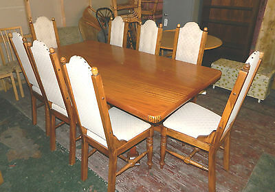 Dining Table and 8 Dining Chairs Ideal for Home / Restaurant / Bistro /  Pub