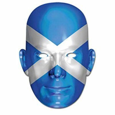 Scottish Saltire Flag Card Face Mask NEW