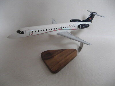 Embraer EMB-145 ERJ-145 ADI Airplane Desktop Wood Model