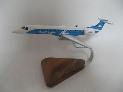 Embraer EMB-145 ERJ-145 Dniproavia Airways Airplane Desktop Wood Model
