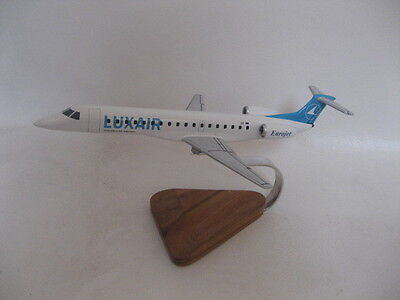 Embraer EMB-145 ERJ-145 Luxair Airplane Desktop Wood Model B