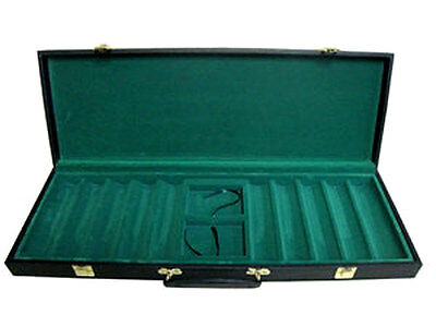 (1) NEW 500 Sturdy Vinyl Casino Style Case Holds 500 Poker Chips FREE SHIPPING *