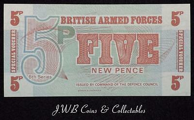 British Armed Forces 5p Five Pence Banknote Uncirculated