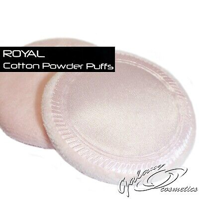 Royal Cosmetics Soft Cotton Puffs x 2 for loose or pressed face powder