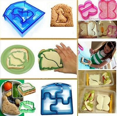 Kids Sandwich Cutter Mould Shape Children Dog Butterfly Dinosaur Animal Lunch