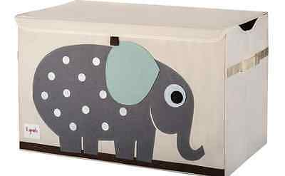 Elephant Toy Bin Storage Chest Box, Baby Room, Kids Organizer, Nursery Bedroom