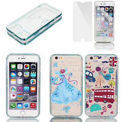 """Soft Plastic Ultre Thin Case Cover w Bumper Frame for Apple iPhone 6 Plus 5.5"""""""