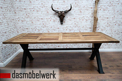 tisch esstisch 230 cm holz metall industrie design shabby loft wow. Black Bedroom Furniture Sets. Home Design Ideas