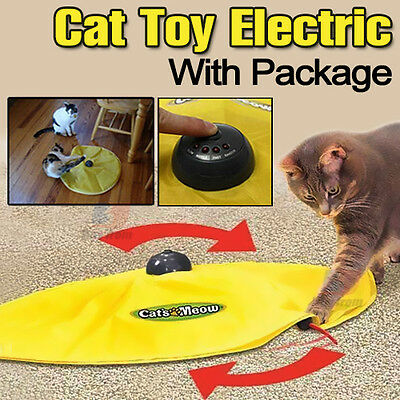 Electronic Cat Toy Fabric Cat's Meow Undercover Fabric Moving Mouse Fun AU