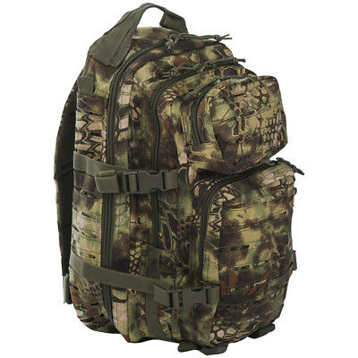 Mil-Tec Us Army Assault Pack Small Laser Cut Molle Hunting Backpack Mandra Wood