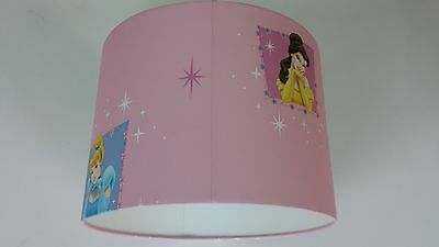 Lampshade made from Snow white Princess portrait  pink Wallpaper ...Handmade...
