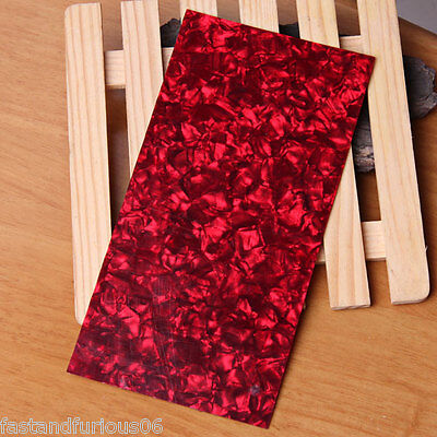 HOT  Pearl Head Veneer Shell Sheet for Celluloid Guitar Luthier Work Inlay Red