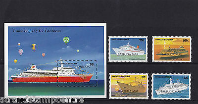 Antigua: Barbuda - 1989 Cruise Ships - U/M - SG 1126-33 + MS1134 (2)