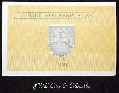 1991 Lithuania 0.50 Talonas Banknote Uncirculated,