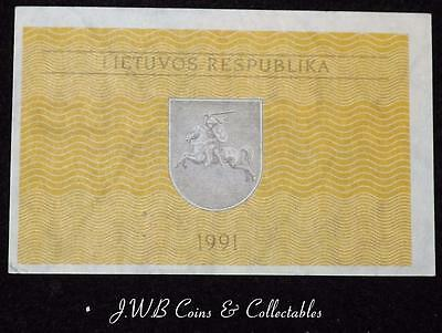 1991 Lithuania 0.10 Talonas Banknote Uncirculated..