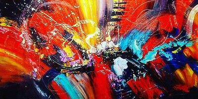 Large Abstract Oil painting on canvas,100%  hand painted, Ready To Hang