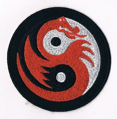 Yin Yang tao taoism peace trance boho hippie yoga Red Dragon