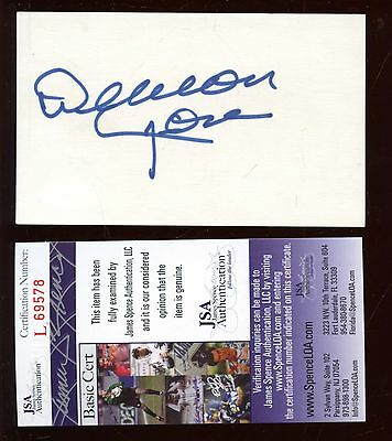 Deacon Jones Autographed Index Card JSA Cert