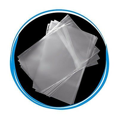 50 New Slim 7mm DVD Case Wrappers bags, Resealable Clear Plastic Sleeves