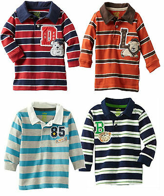 Polo Toddler Boys Shirt Long Sleeve Baby 12 18 24 Months Sesame Street Clothes