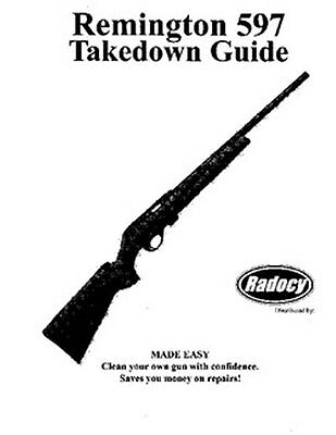 Remington  Model  597  Takedown Disassembly Assembly Guide Radocy  NEW