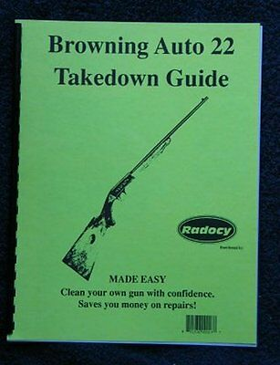 Browning  A22 Auto 22 Rifle  Takedown Disassembly Assembly Guide Radocy  NEW