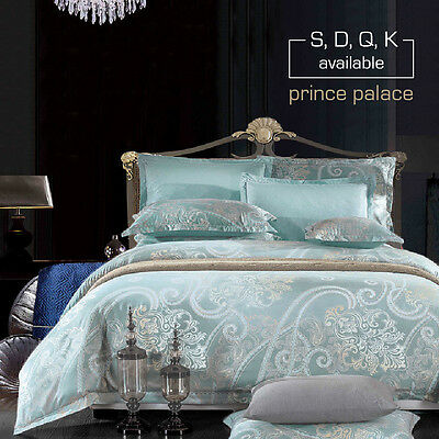 Single/Double/Queen/King Size Bed Quilt/Duvet Cover Set-Prince Palace