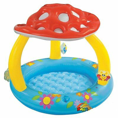 """Intex Mushroom Inflatable Baby Pool, 40"""" X 35"""", for Ages 1-3 by Intex Bright NEW"""