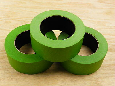 "3 QUALITY USA MADE 2"" Green Painters Masking Trim Edge Tape 180' 60 yd roll"