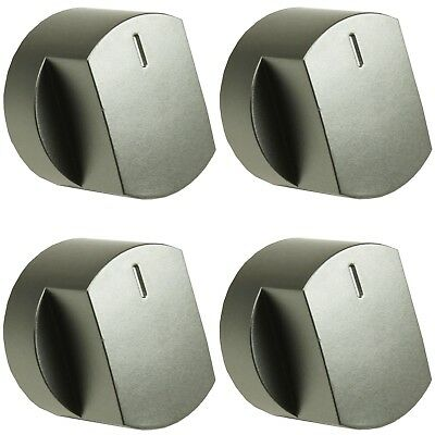 4 x Silver Oven Cooker Hob Control Knob Switch For Stoves 444445107 444445108