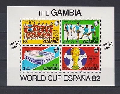 s5674)GAMBIA 1982 MNH* World Cup Football 1982-Campionati Mondo Calcio S/S