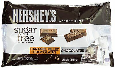 Hershey's Sugar Free Assortment Milk Chocolate and Caramel Filled Pack of 3  XCL