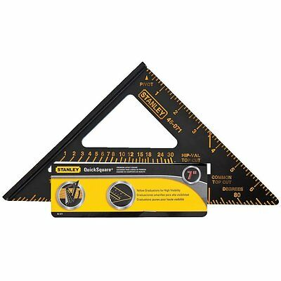 "Stanley 46-071 Premium Quick Square Layout Tool, 7""  STN (BRAND NEW)  (AOI)"