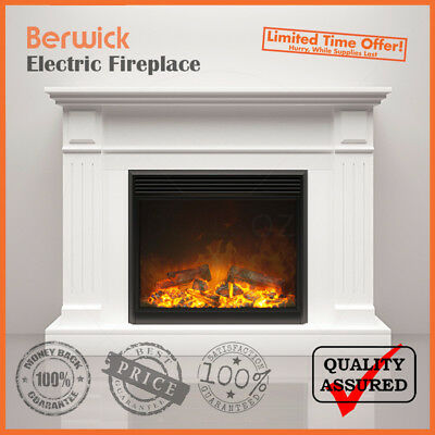 Brand New 2000W Electric Mantel Fireplace Suite With Realistic Flame Effect