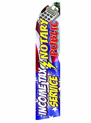Imcome Tax Feather Flag Swooper Advertising Banner
