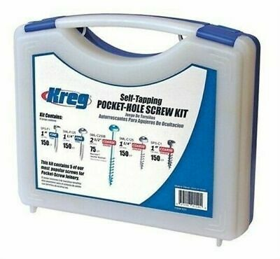 Kreg Tool Company SK03 Self Tapping Pocket Hole Screw Kit Five Sizes with Case