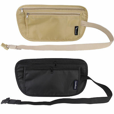Money Belt, Bum Bag Hidden Pouch Security Fanny Pack Secret Waist Belt - 4 TYPES