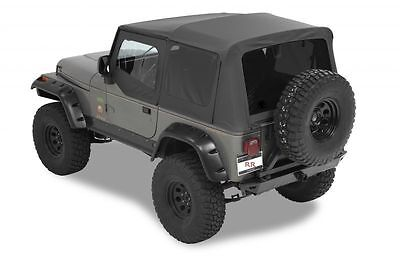 1988-1995 Jeep Wrangler Replacement Soft Top with Upper Doors & Tinted Windows