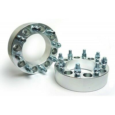 """2 X Wheel Spacers Adapters 8X6.5 To 8X6.5   126 CB   9/16 """" Studs   75MM 3 Inch"""
