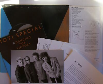 Moti Special Dancing For Victory NL LP 1990 Silver PS + Ultrarare Press-Kit!!