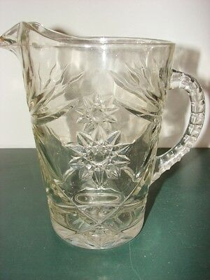 "Retro Anchor Hocking Star of David Pitche - 8"" tall - 54 Ounces"