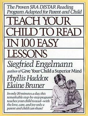 NEW Teach Your Child to Read in 100 Easy Lessons By Siegfried Engelmann Paperbac